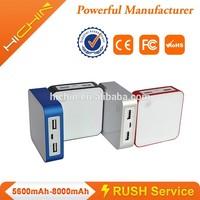 novelty magic cube 4500mah power bank with free laser lighting logo