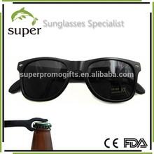 Matte Black Coolest Wayfarer Bottle Opener Sunglasses CE UV400