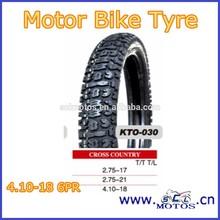 SCL-2013070410 Cross Country 4.10-18 Motor Bike Tyre