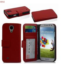 Wholesale 2015 hot flip wallet cover case for Samsung S4 i9500