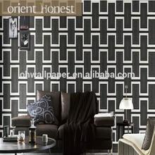 2015 newest popular deep Embossed washable decorative 3d peelable vinyl wallpaper 3d for bedroom