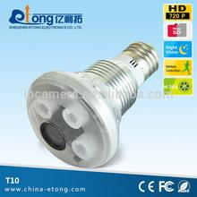 720P HD 15m IR distance camera remote control light bulb, light socket camera