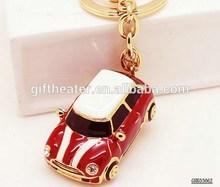 Novelty Innovative 3D Car Keychain Luxury Metal Rhinestone Key Chain Creative Car Keyring,