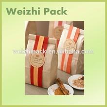 Custom printed paper food bag/Cheap Wholesale kraft paper bag for food