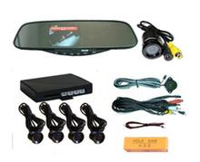Car LED Parking Sensor Monitor Auto Reverse Backup Radar Detector System + Backlight Display + 4 Sensors Parking Assistance