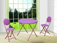 Fancy child used folding table and chairs