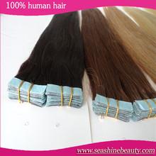 "2015 fashion women tape hair extensions straight skin weft 2.5g/pcs 40pcs/lot 18"" 20"" 22"" 24"""