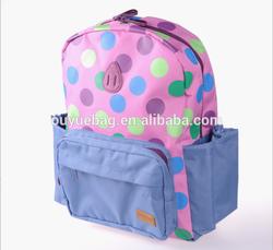 Korean kindergarteners backpack schoolbag cartoon pig nose Polka Dot Canvas shoulder bag