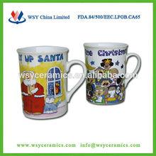 Factory directly supply high quality porcelain christmas musical mug