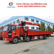 6x2 FAW 8000kgs Lorry Crane, Hydraulic Moblie Crane Truck for Sale