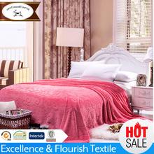 YM-0347 Wholesale deep pink carving blanket