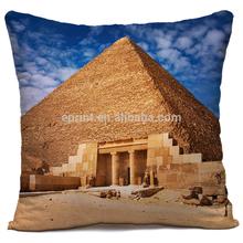 Digital printing pyramid pillow case, custom made pyramid pillow case, dye sublimation pyramid pillow case