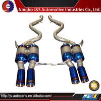Inlet dual round tip muffler exhaust ss-pdk type exhaust muffling throttle valve