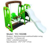 Children slide/kids plastic slide and swing/pleasure toy