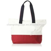 red white stripe shopping bag ,canvas shopping bag,China manufacturer Designer handbags 2015