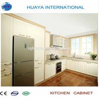 2015 popular modern pvc kitchen cabinet withe color