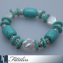 Wholesale fashion kallaite irregular pearl bracelet
