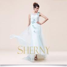 sherny bridals OEM ve ODM kabul gümüş gri annesi gelin elbise