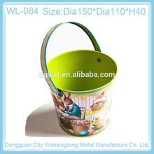 Gift mini ice tin bucket with handle