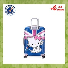 "Spinner 20""24"" Size PC Plastic Hard Shell Suitcase Hello Kity Cartoon Luggage"