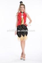 señoras sexy mujer de color rojo del circo ringmaster león domador de fantasía traje de vestir