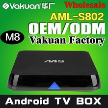 Amlogic! google tv box android mini pc Quad Core amlogic 2.0GHz android 4.2 xbmc skype wifi 4K M8 android tv box
