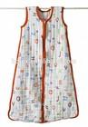 Hot Sales 100% Cotton Muslin Blankets Baby Sleeping Bag
