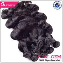 Machine weft unprocessed natural wave virgin myanmar hair