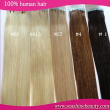 Hot! Human Hair 40pcs Skin Weft Tape Hair Extensions 100g Grade 6a Unprocessed Virgin Brazilian Straight Hair