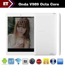 New Original 9.7inch Onda V989 Tablet PC Allwinner A80T Octa Core 2.0GHz Retina 2048x1536 Android 4.4 2GB RAM 32GB ROM