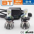De alta potencia solo haz h1 h3 h7 9005 9006 del coche del led cabeza de la lámpara h4 12v 60/55w p43t