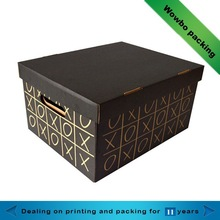elegant different pattern paper shoe packing box of 2015