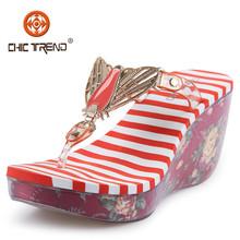 Moda melissa sapatos borboleta cunha sapatos de pvc itens de plástico com preço competitivo calçados femininos