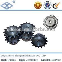 ASA 50 ANSI B29.1 DIN 8187 ISO/R 606 standard 10A-2 duplex roller chain sprocket with hub