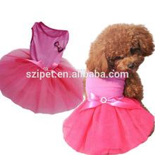 wholesale lovely new design pet clothes dog wedding dress IPET-PC15