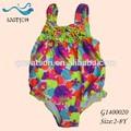 los niños de niza completa de impresión de la flor de trajes de baño con estilo