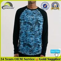 Fashion Men's Wholesale Raglan Camo Long Sleeve Raglan T Shirt