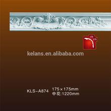 Kelans High Density A874 Crown Polyurethane Foam Crown Molding
