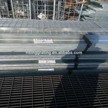 galvanized platform grating with kick plate