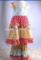 belas roupas de grife atacado china casual polka dots vestido e plissado calça atacado nome da marca de roupa do bebê