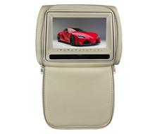 7 inch car pillow headrest dvd with wireless headphone/game/ DVD