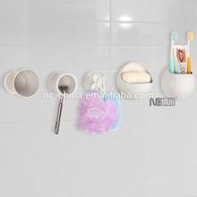 All in 5 pieces Plastic bathroom accessory set