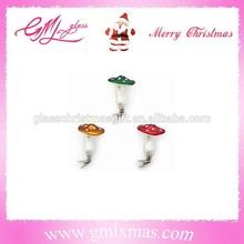 artificial glass mushroom christmas glass mushroom decorations glass mushroom for christmas decoration