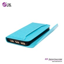 Leather wallet flip stand cover case with soft tpu for iphone 6