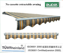 4.0*2.5m High quality awning manual steel pergola and polyester awnings-CZCD4025-M15