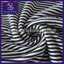 Single jersey fabric/ black white stripe fabric
