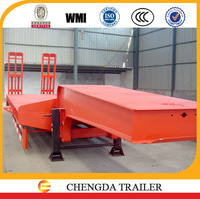 China trailer manufacturer heavy load 3 axle 50 ton lowbed trailers davao city