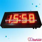 Plastic outdoor clock golf counter watch