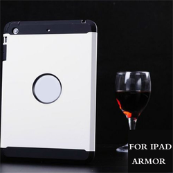 wholesale double color hybrid slim armor case for ipad 4 case,case for iPad 4