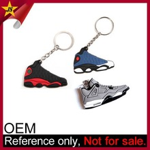 Custom Design Soft PVC Rubber 3D Running Shoe Keychain